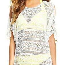Resort Womens White Beach Wear Tunic Sz18 BNWT Sarong Costume Suit 16 l xl New