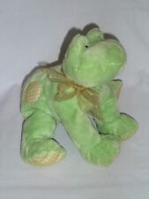 Baby Gund Plush Touch Of Plaid Frobbit Frog 58438 Green Stuffed Animal Ribbon