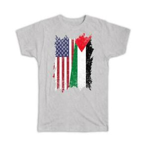 Gift T-Shirt : United States Palestine American Palestinian