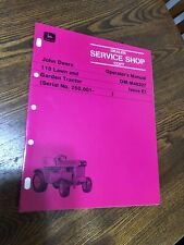 NEW John Deere 110 Garden Tractor Shop Operator Manual Owners  OMM46327