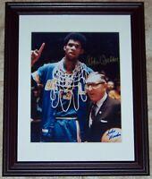 Kareem Abdul Jabbar & John Wooden Signed Autographed Basketball Photo JSA AH LOA