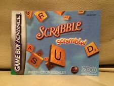 Scrabble Scramble! - Nintendo Game Boy Advance Instruction Manual Booklet