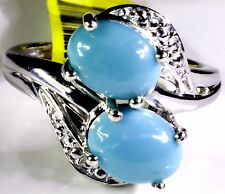 Arizona Sleeping Beauty Turquoise Ring in Sterling Silver (Size 9) TGW 2.54 Cts