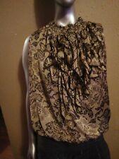 NICOLE M Womens High Waist Neck Sleeveless Top Size M 100% Polyester