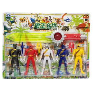 Power Rangers 14cm tall Action figures set of 5 powerrangers Plus 37cm Sword AU