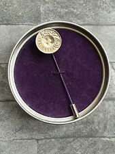 TED BAKER SILVER TONE PAISLEY ETCHED BUTTON LAPEL PIN BNIB