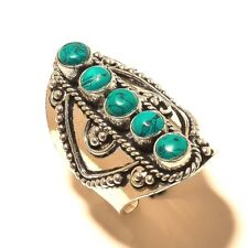 Beautiful Turquoise Free Shipping Silver Plated Gemstone Ring Jewellery Wp539