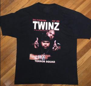 New Big Pun Fat Joe TWINZ Cotton Black All Size Men Women T-Shirt AA081