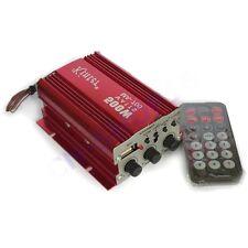 AMPLIFICATORE AUDIO 12V MP3 USB CASA AUTO 2 CANALI STEREO 500W TELECOMANDO