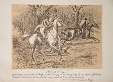 Finch Mason Hunting Riding Great Britain Caricature Hunter Hunting Hound Dog Basset