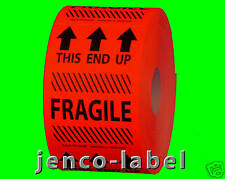 HF2302R, 500 2x3 This End Up Fragile Label/Sticker