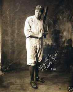 Babe Ruth 1920's baseball player signed in print  A5 photo print