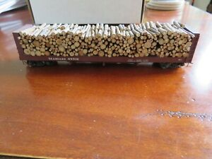 Seaboard HO scale 53' Type R-7 pulpwood rack #45516 w/custom pulpwood load