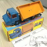 Atlas 1/43 Dinky Toys 569 Berliet Stradair BENNE BASCULANTE LATERALE CAR MODEL