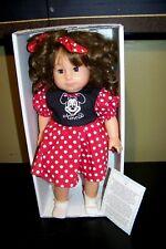 "Vtg Gotz Puppe Disney Mickey Minnie Mouse Doll 16"" Tall Vinyl & Cloth Body"