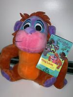"Disney Store Furrytale Friends KING LOUIE Beanie 8"" Plush Toy Jungle Book BNWT"