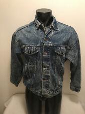 Vintage Stone/Acid Wash Jean Jacket Mens size Medium Made in USA