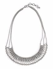 "LUCKY BRAND Silvertone Textured Metal Necklace, 18"" + 2 Extender"