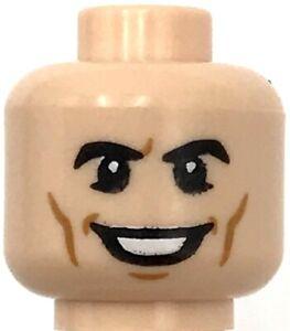 Lego New Light Flesh Minifigure Head Dual Sided Black Eyebrows Piece