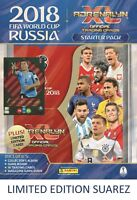 2018 PANINI ADRENALYN FIFA WORLD CUP STARTER PACK ALBUM 18 CARDS +  LE SUAREZ