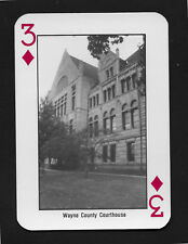 Wayne County Courthouse Indiana playing card single swap three diamonds - 1 card