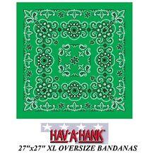 surdimensionné XL Kelly Vert Bandana cachemire 68.6cmcotton écharpe Tête de mort
