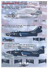 Print Scale Decals 1/48 GRUMMAN F9F PANTHER & COUGAR Jet Fighters Part 1