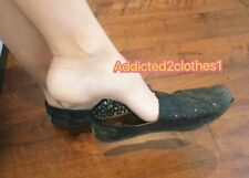 Womens Well Worn Toms Black Glitter Flats Shoes Size 8