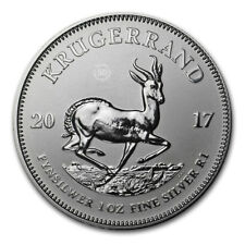 Krugerrand Silver oz Anniversary 50th, 2017, Once d'argent pur 999