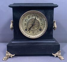 New Listing19thC Antique Gothic Victorian Era E. Ingraham Old Wood Estate Mantel Clock