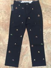 Polo Ralph Lauren Mens Classic Fit Embroidered Cotton Chino Pants 38 x 32 Navy