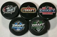 Lot of 5 NHL Draft Pucks Columbus Blue Jackets Minnesota Wild L.A. Kings Puck
