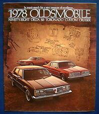 Prospekt brochure 1978 Oldsmobile Toronado * Ninety-Eight * Custom Cruiser (USA)