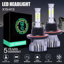 New listing 4 Sides H13 9008 2400W 360000Lm Cob Led Headlight Bulb Kit High/Low Beam 6000K