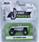 JADA 2020 1/64 JUST TRUCKS SILVER 2003 DODGE RAM W/BLACK STRIPES WAVE 28 NEW!