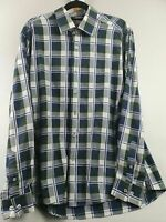 Thirty Six Degrees European Long Sleeve Mens Check Shirt Sz Large