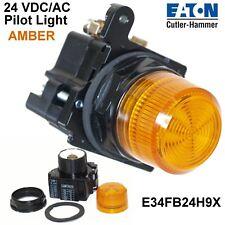 Cutler Hammer  E34FB24H9X Pilot Light E34 Series AMBER 24 VDC/AC Epoxy Coated