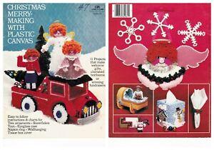 Plastic Canvas Christmas Merry Making Decs Cross Stitch Pattern Book 5950 Coats
