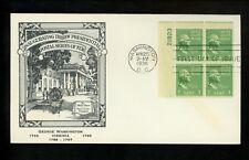 US FDC #804 M#61 Coakley Cachet 1c George Washington 1938 Prexy Prexie