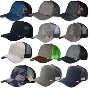 Djinns ® HFT TRUCKER MESH CAP Glen Check Tweed Linen Rib Spotted Bubble Rip Hats