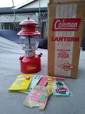 Vintage Feb 1960Coleman Lantern 200A With Box and Paper Awesome Condition