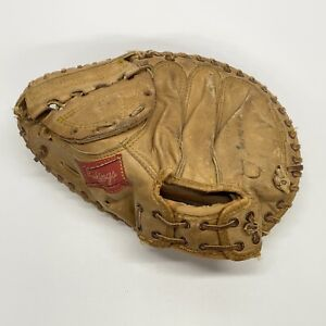 Vintage Rawlings 218 Ray Fosse Left Hand Throw Catcher's Mitt Made USA