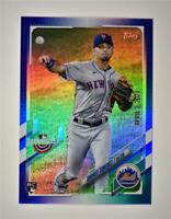 2021 Opening Day Base Blue Foil #53 Andres Gimenez RC - New York Mets