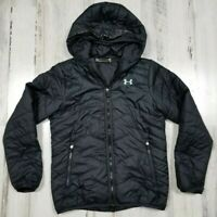 Under Armour Youth ColdGear Storm Puffer Jacket Coat Black Loose Size M (b11)