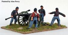 American Civil War Union Artillery firing 28mm metal Perry Miniatures New!