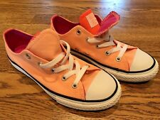 Converse All Star Double Tongue Ox Sunset Glow Hyper Orange (656083F).  Size 2.