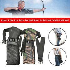 New listing Archery 4 Tube Arrow Quiver Bag Waist Holder Hip  Back Portable Field Shoot YU