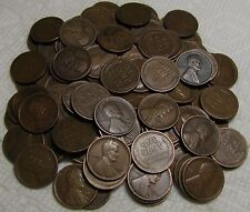 2 ROLLS OF 1917 D DENVER LINCOLN WHEAT CENTS FROM PENNY COLLECTION