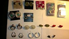 LOT 14 PAIRS WHOLESALE LOT COSTUME JEWELRY EARRINGS MIXED STYLES  incl.Vintage