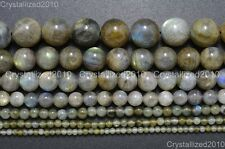 Natural Labradorite Gemstone Round Loose Beads 2mm 3mm 4mm 6mm 8mm 10mm 12mm 16